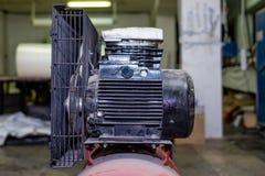 Rode productiecompressor royalty-vrije stock foto