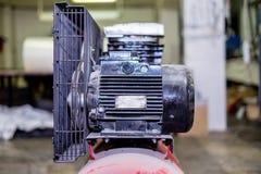 Rode productiecompressor royalty-vrije stock afbeeldingen