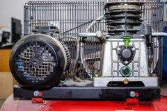 Rode productiecompressor royalty-vrije stock foto's