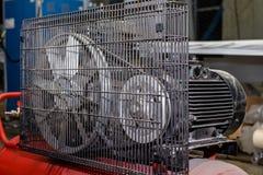 Rode productiecompressor stock foto's
