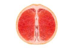 Rode pulp van sappige grapefruit stock fotografie
