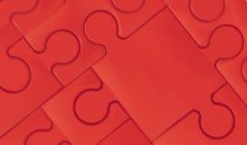 Rode puzzel en Concepten abstracte Achtergrond Stock Fotografie
