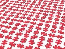 Rode puzzelstukken Stock Illustratie
