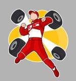 Rode raceauto van Formule 1 Royalty-vrije Stock Afbeeldingen