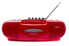 Rode Radiocassettespeler Royalty-vrije Stock Afbeeldingen