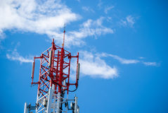 Rode radiotoren Stock Foto