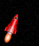 Rode raket Royalty-vrije Stock Fotografie