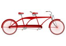 Rode retro achter elkaar vector illustratie