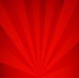 Rode retro Achtergrond Uitstekend stralenpatroon Stock Afbeelding