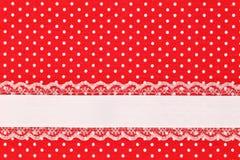 Rode retro stiptextiel Royalty-vrije Stock Foto