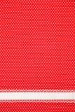Rode retro stiptextiel Royalty-vrije Stock Afbeeldingen