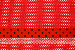 Rode retro stiptextiel Royalty-vrije Stock Foto's