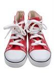 Rode retro tennisschoenen Royalty-vrije Stock Afbeeldingen
