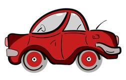 Rode retro uitstekende vlakke auto Royalty-vrije Stock Afbeeldingen