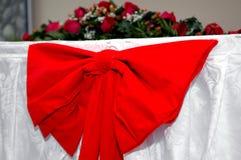 Rode ribon van het huwelijk Stock Foto's