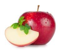 Rode rijpe appel Stock Foto
