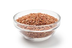 rode rijst in een glaskom Royalty-vrije Stock Foto's