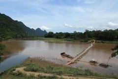 Rode Rivier Vietnam stock foto's