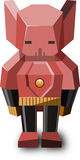 Rode robot met gele riem Royalty-vrije Stock Fotografie