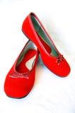 Rode rode schoenen Royalty-vrije Stock Fotografie
