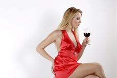 Rode rode wijn Royalty-vrije Stock Foto's