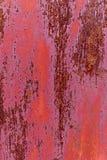 Rode, roestige retro deurachtergrond, antiquiteit stock afbeelding