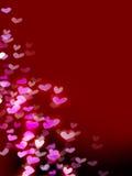 Rode romantische achtergrond met harten royalty-vrije illustratie