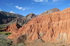Rode rotsbergen stock afbeeldingen