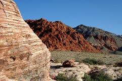 Rode rotscanion Nevada Royalty-vrije Stock Afbeelding