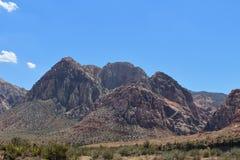 Rode Rotscanion, Nevada, de V.S. Stock Foto