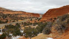 Rode rotscanion van Utah Stock Fotografie