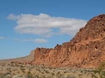 Rode Rotsen in de Vallei van het Park van de Brandstaat, Nevada Stock Fotografie