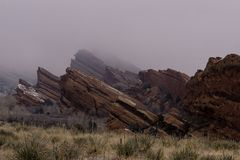 Rode Rotsen - Morrison, Colorado Royalty-vrije Stock Afbeelding