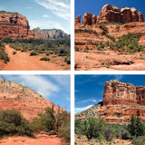 Rode Rotsen van Sedona Arizona stock foto's