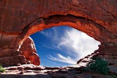 Rode rotsen van Utah royalty-vrije stock afbeeldingen