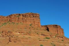 Rode rotsen, Wyoming Stock Afbeelding