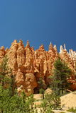 Rode rotsvorming in het park van de brycecanion, Utah stock afbeelding