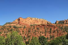 Rode Rotsvorming in Sedona Arizona stock afbeelding