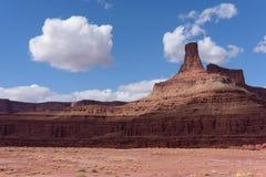 Rode Rotsvormingen dichtbij het Nationale Park van Canyonlands, Utah Stock Afbeelding
