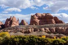 Rode Rotsvormingen dichtbij het Nationale Park van Canyonlands, Utah Royalty-vrije Stock Foto's