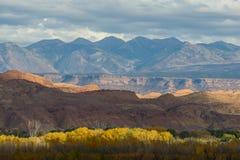 Rode Rotsvormingen dichtbij het Nationale Park van Canyonlands, Utah Royalty-vrije Stock Foto