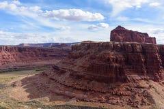 Rode Rotsvormingen dichtbij het Nationale Park van Canyonlands, Utah Royalty-vrije Stock Afbeeldingen