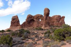 Rode Rotsvormingen dichtbij het Nationale Park van Canyonlands, Utah Stock Afbeeldingen