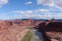 Rode Rotsvormingen dichtbij het Nationale Park van Canyonlands, Utah Stock Fotografie