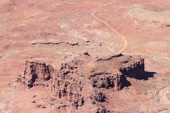 Rode Rotsvormingen dichtbij het Nationale Park van Canyonlands, Utah Stock Foto