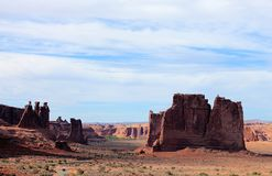Rode Rotsvormingen in het Nationale Park van Canyonlands, Utah stock fotografie