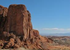 Rode rotsvormingen in Vallei van het Park van de Brandstaat, Nevada Stock Afbeeldingen