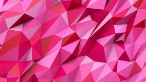 Rode roze abstracte geometrische de vormachtergrond van driehoeken polykleuren Stock Afbeeldingen
