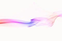 Rode Roze en blauwe abstracte rook Stock Fotografie