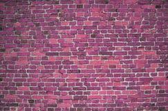 Rode/roze muur (achtergrond, behang, bakstenen) Stock Afbeeldingen
